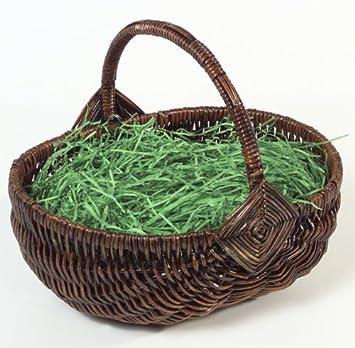Brauns-Heitmann 62617 - Cesta con hierba verde (24 x 19 x 10 cm), color marrón Brauns Heitmann
