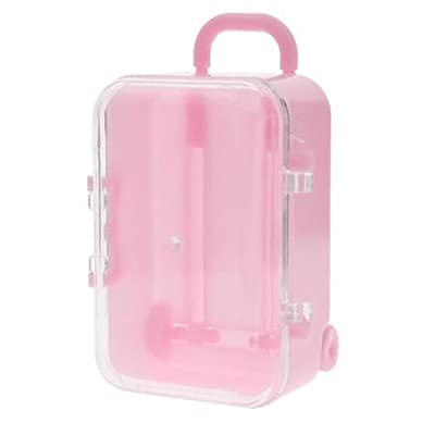 AIMTOPPY Lunch Bag, Mini Rolling Travel Suitcase Box Wedding Favors Party Reception Candy Toy (Pink, free)