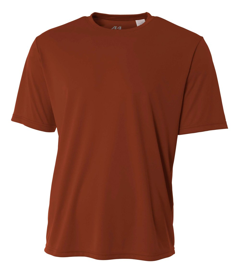 A4 Men's Cooling Performance Crew Short Sleeve, Texas Orange, 4X-Large by A4