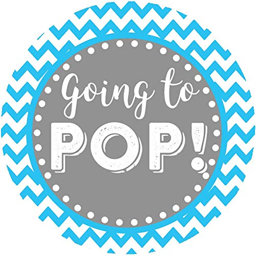 (2 Inch Going to POP Baby Shower Stickers Set of 60 (Blue))