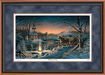 sharing the evening by terry redlin limited edition framed print of 29500 signed numbered