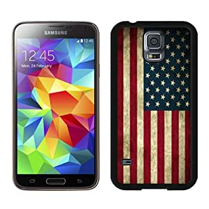Excellent protection American Flag 6 Black Cover Case For Samsung Galaxy S5