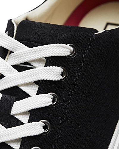 JACK & JONES Herren Sneakers jfwMERVIN Schuh Shoe Textil Canvas Sommerschuh Schwarz (Anthracite)