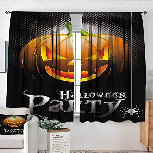 Sanring Halloween,Customized Chid Curtains Party Theme Scary Pumpkin 72