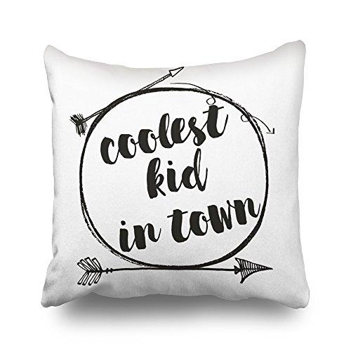 Pakaku Throw Pillows Covers For Couch/Bed 20 x 20 inch,Coolest Kid In Town Woodland Tribal Nursery Home Sofa Cushion Cover Pillowcase Gift Decorative Hidden Zipper Summer Beach Sunlight by Pakaku