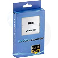 SMACC Mini Compact Video VGA To HDMI 1080P Converter Adapter With 3.5mm Audio ( Mini VGA To HDMI Converter )