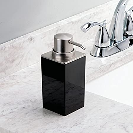 12.7x8.30x3.4 cm InterDesign Clarity Jabonera Negro y Cepillado