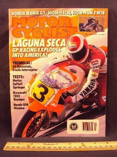 1988 88 July MOTORCYCLIST Magazine (Features: Kawaki Voyager XII, Honda VT800 C Shadow, Harley Davidson FSTS Springer, & Honda NT650 Hawk GT)