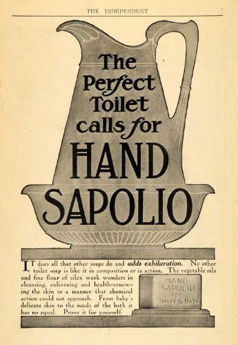 1907 Ad Enoch Morgans Sons Sapolio Toilet Soap Bath Product Health Vase Ceramics - Original Print (Morgan Vase)
