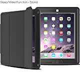 iPad Case, Case-cubic Extreme Heavy Duty Full Body Rugged Hybrid Case with Smart Magnetic Sleep / Wake feature PU Leather Cover for iPad 2/iPad 3/iPad 4