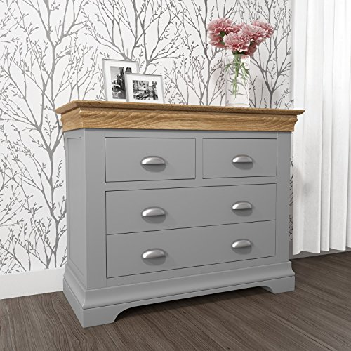 597a5984bd Loire Grey and Oak 2+2 Chest of Drawers: Amazon.co.uk: Kitchen & Home