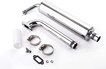 Canister Muffler,Tuned Pipe for 23cc-30cc RC airplane,Best for Zenoah 26CC//DLE30
