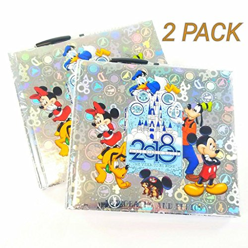Set of 2! 2018 Disney World Character Autograph Book and Photo Album - Disney Parks (Perfect Autograph)