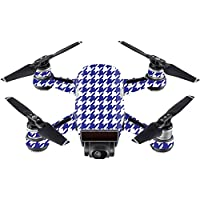 Skin For DJI Spark Mini – Blue Houndstooth | MightySkins Protective, Durable, and Unique Vinyl Decal wrap cover | Easy To Apply, Remove, and Change Styles | Made in the USA