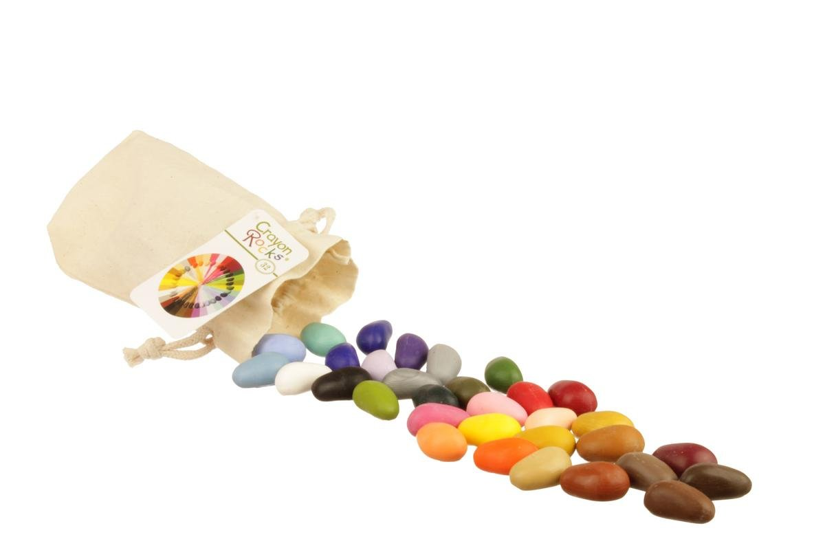 Crayon Rocks 32 Colors in Muslin Bag by Crayon Rocks