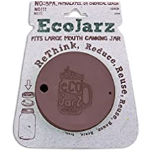 Ecojarz Silicone Coffee Drink Top for Wide Mouth Canning Jars