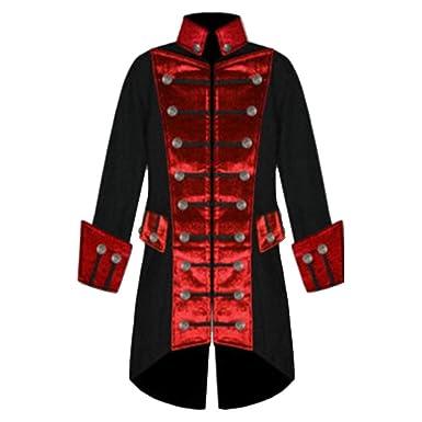 Saoye Fashion Abrigo De Hombre Vintage Cosplay Uniforme De Manga Larga Chaqueta Ropa De Medio Cuerpo Tuxedo Cosplay Steampunk Jersey De Cuello Alto ...