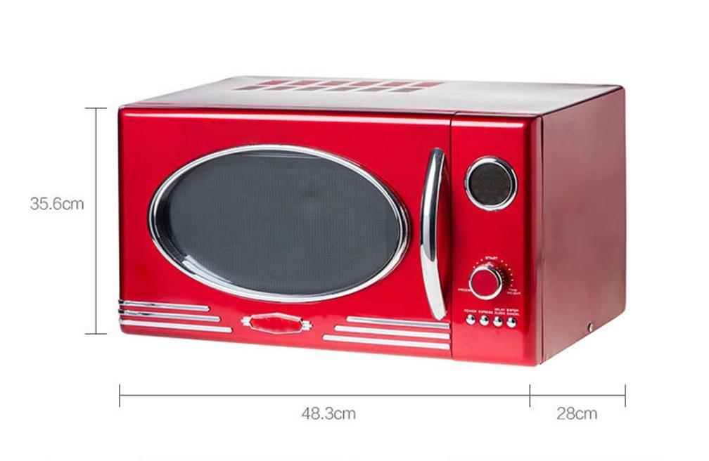 WX Metal Rojo Clásico Horno De Microondas Retro , Red , 48.3 ...