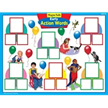 Magnetic Early Action Words Board Game - Super Duper Educational Learning Toy for Kids