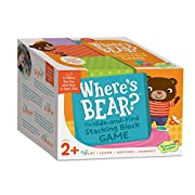 Peaceable Kingdom Where's Bear? The Hide and Find Stacking Block Game for 2 Year Olds
