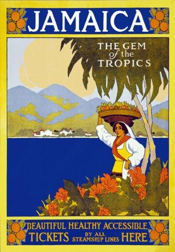 VINTAGE JAMAICA GEM OF THE TROPICS TRAVEL A4 POSTER PRINT
