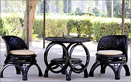 DeDzines Handcrafted Unique Outdoor Furniture Set (Matte, Black) for Home Décor/Office/Garden/Corporates/Restaurant/Hotels