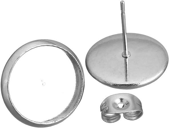 Perlen Schwarz3-12 mm Ohr-Stecker Ohrringe Edelstahl Schmuck