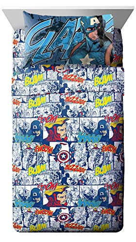 Jay Franco Marvel Avengers Publish 3 Piece Twin Sheet Set,