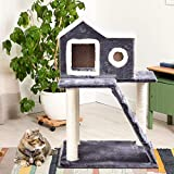 Tangkula Cat Tree Kitty Tower Condo Lovely Pet Furniture with Scratching Posts and Ladder Pet Play Toy House Kitten Activity Tree(36