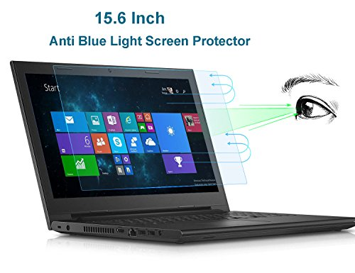15.6 Inch Universal Anti Blue Light Laptop Screen Protector for 15.6 Inch Laptop Display 16:9, Blue Light UV Filter Anti Scratch Anti Fingerprint Reduce Eye Fatigue and Eye Strain