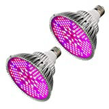 100W Led Plant Grow Light Bulb, Full Spectrum 150 LEDs Indoor Plants Growing Light Bulb Lamp for Vegetables Greenhouse and Hydroponic, E27 Base grow light Bulbs, AC 85~265V [2Pack]