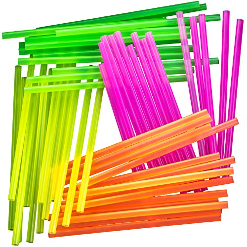 Glow Straw - Blacklight Neon Drinking Straws 600 Pack