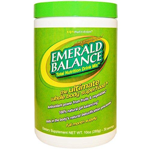 Minty Green - SGN Nutrition, Emerald Balance, Total Nutrition Drink Mix, Minty Green Tea Taste!, 10 oz (285 g)