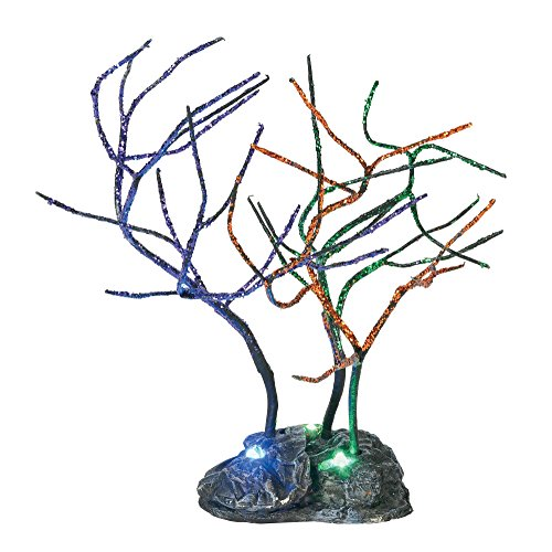 Department 56 Halloween Collections Lit Spooky Sparkle Trees Figurine Village Accessory, -