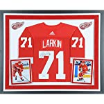 e43aca98b Dylan Larkin Detroit Red Wings Deluxe Framed Autographed Red Adidas  Authentic.