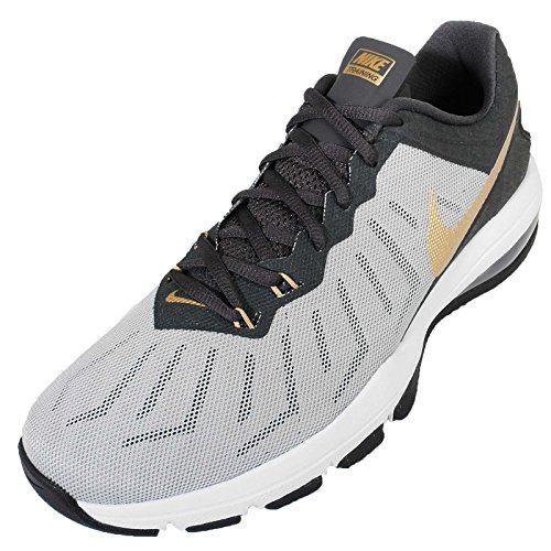 Nike Men's Air Max Full Ride TR, WOLF GREY/METALLIC GOLD-ANTHRACITE-MTLL, 14 M US