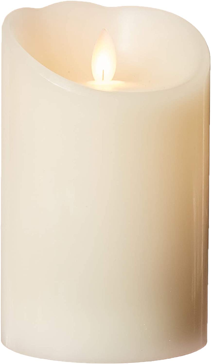 Sterno Home MGT814406CR00 Cream Smooth Wax Pillar with Timer
