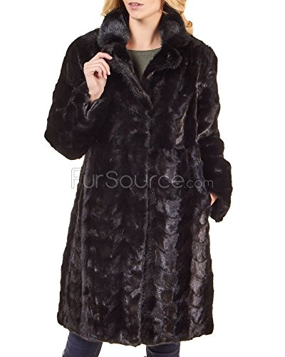 Classic Womens Mink Coat (Frr Sculptured Mink Fur Classic Coat - 2X-Large)