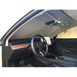 HeatShield The Original Auto Sunshade, Tesla 3 Sedan 2018, Silver Series