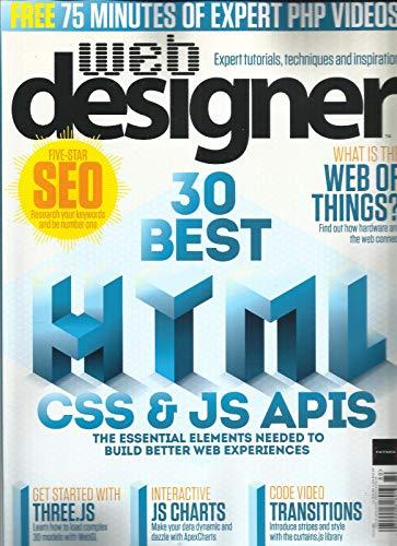 WEB DESIGNER MAGAZINE 30 BEST HTML CSS & JS APIS ISSUE, 2018 ISSUE 280