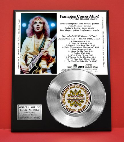 Peter Frampton Limited Edition Platinum Record Display - Music Memorabilia Wallart - from Gold Record Outlet