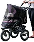 Pet Gear No-Zip NV Pet Stroller for Cats/Dogs, Zipperless Entry, Easy One-Hand Fold, Air Tires, Plush Pad + Weather Cover Included, Optional Divider For Sale