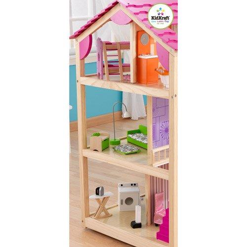 51eL%2Br9SYJL - KidKraft So Chic Dollhouse with Furniture