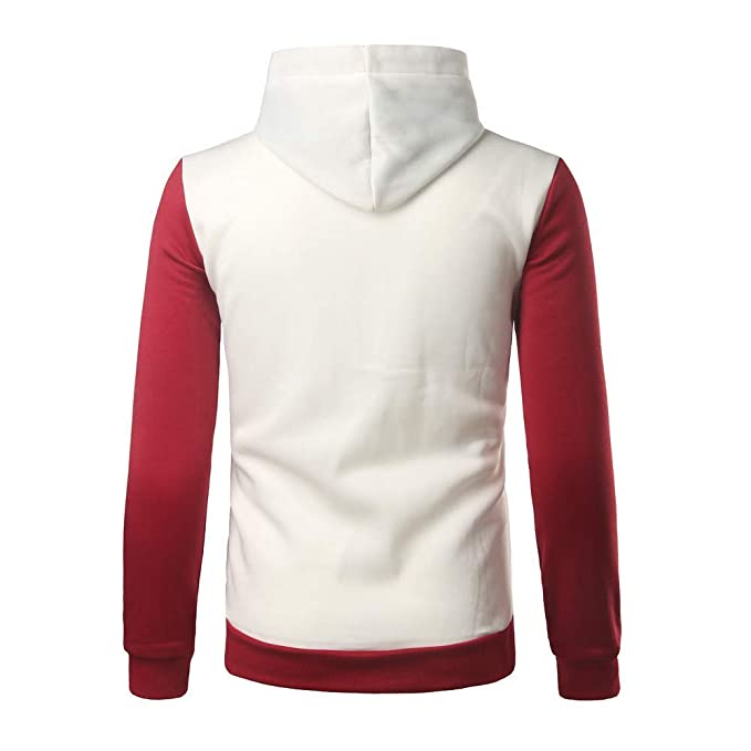 ZHRUI Sudadera con Capucha de Manga Larga para Hombre Costura Color Chaqueta de Abrigo Ropa Interior Tops Deportivas (Color : 8-White, tamaño : CN LUK 10): ...