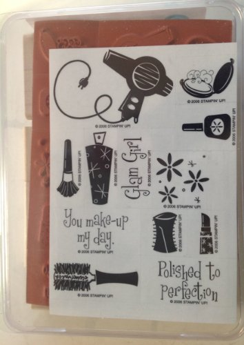 UPC 025706736008, Stampin up Retired Set of 12 Wooden Stamps. Glam Girl