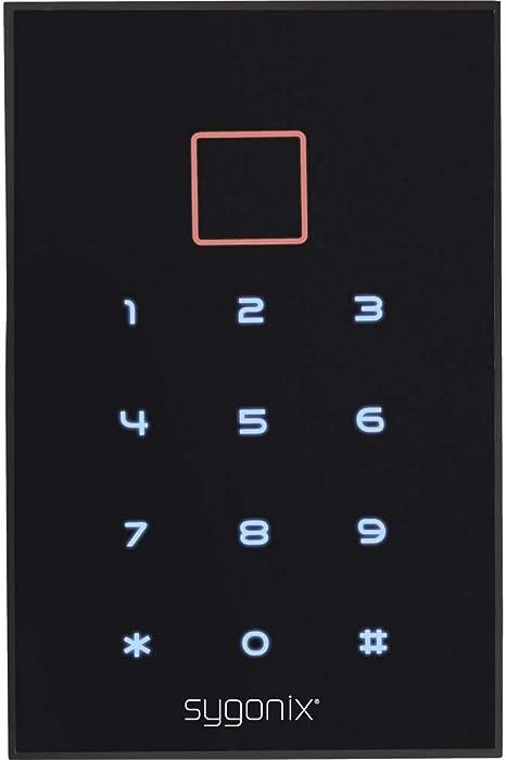 con Touchscreen SYGONIX SY-3435062 Codeschloss Oberfl/ächenmontage IP66 con beleuchteter Tastatur