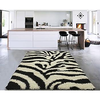 Amazon Com Zebra Print Rug Contemporary Area Rugs 5x8