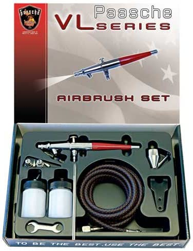 Paasche Airbrush Paasche Double Action Siphon Feed Airbrush Set, Multi-Colour, 26.04 x 19.05 x 4.45 cm