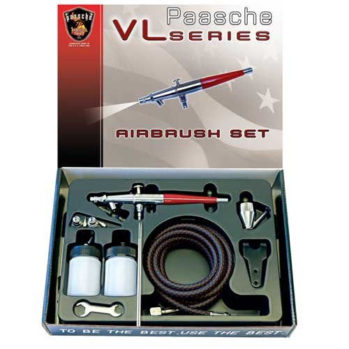 Paasche VL-SET Double Action Siphon Feed Airbrush Set by Paasche Airbrush