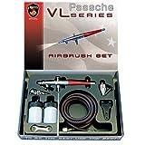 Paasche Airbrush VL-SET - Set de aerógrafo de doble acción con alimentación por sifón